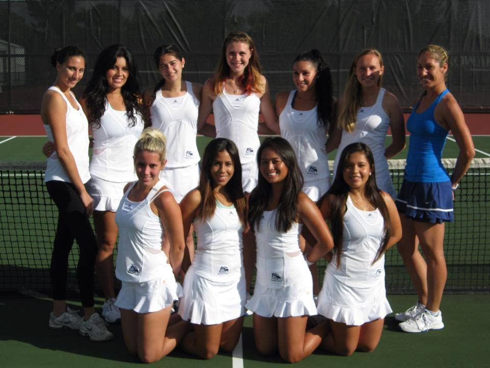 L'équipe de tennis universitaire à Broward College