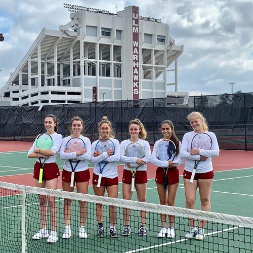University of Louisiana, Monroe Women's Tennis Team 2019-2020