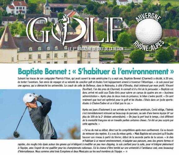 BONNET - Golf Magazine Isere nov. 2020