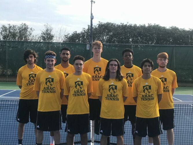 ABAC Men's Tennis Team 207-2018