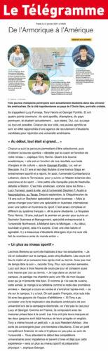 Article Le Télégramme - janvier 2021