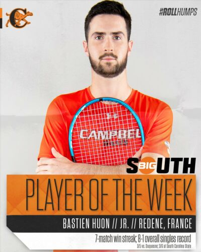 Bastien nommé Big South Player of the Week