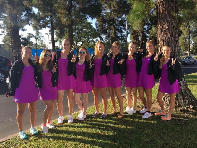 Eastern Arizona College Women's Tennis Team 2017-2018
