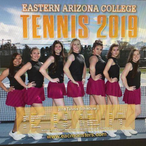 Eastern Arizona College Women's Tennis Team 2018-2019