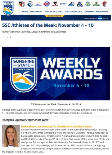 SSC Offensive Player of the Week
