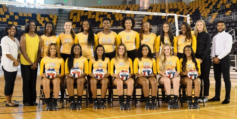 Xavier University of Louisiana Women's Volleyball Team 2017-2018