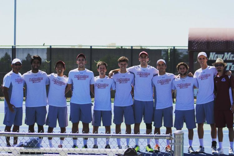 New Mexico State University Men's Tennis Team 2017-2018