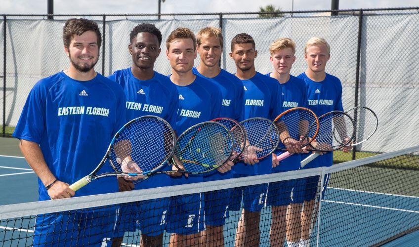 EFSC Men's Tennis Team 2017-2018