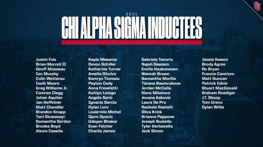 Chi Alpha Sigma Inductees