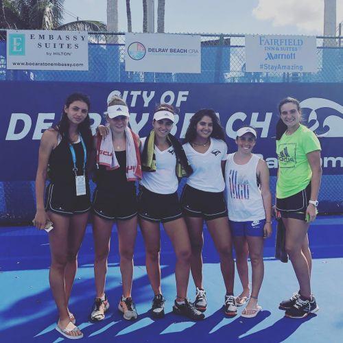 Fall 2018, premier tournoi à Delray Beach