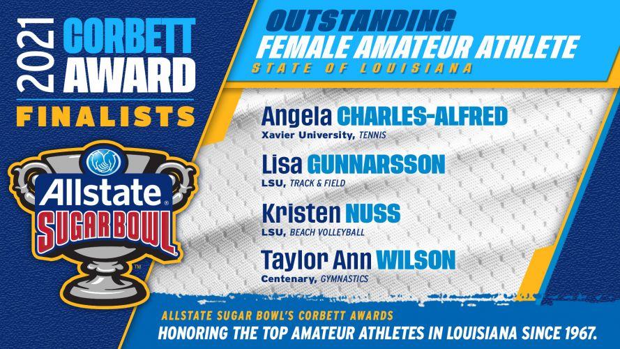 2020-2021 Corbett Award - Outstanding Female Amateur Athlete State of Louisiana (finaliste)